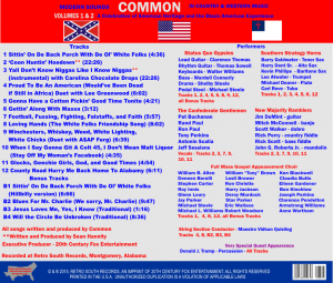 Back Cover Rapper Common Country CD