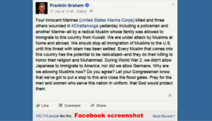 Facebook screenshot of Franklin Facebook page on July 17, 2015