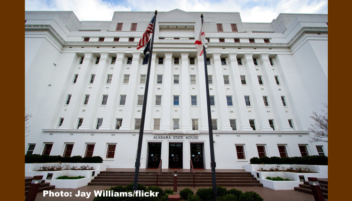 Alabama Legislature Building in Montgomery