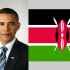 Official Photo of President Obama and the Kenya Flag