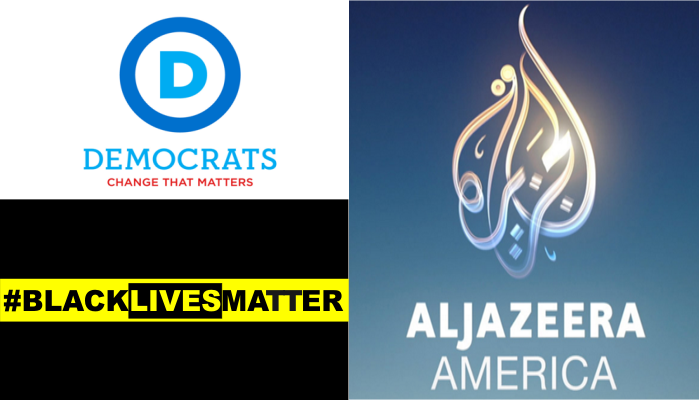 Al Jazeera America Logo, Black Lives Matter Logo, Democratic National Committee Logo