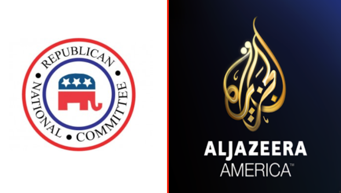 Republican National Committe Logo and Aljazeera America logo