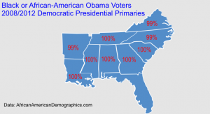Fake maps of Obama black voters.