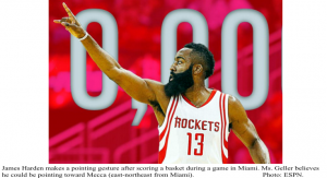 James Harden pointing