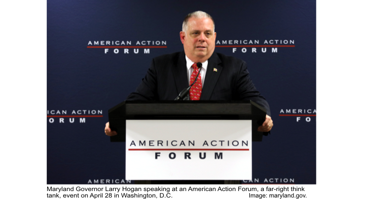 Governor Larry Hogan speaking at American Action Forum