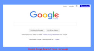 French Homepage Google