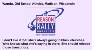 Reason Rally Atheist Quote