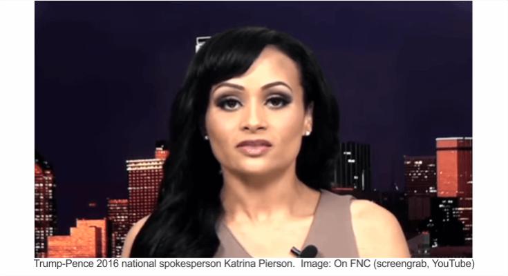 Katrina Pierson Trump spokesperson