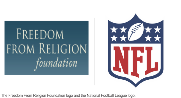 Logos of the NFL and FFRF