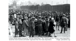 Nazis at rail station deporting Jews