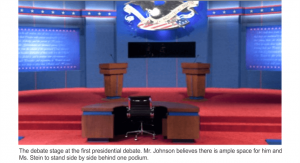Debate stage at first 2016 presidential debate