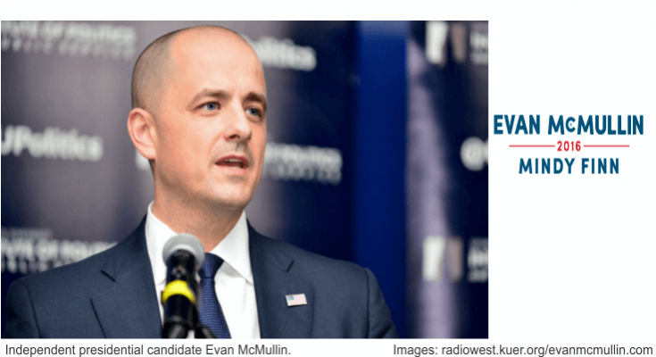 Evan McMullin Mindy Finn 2016 photo