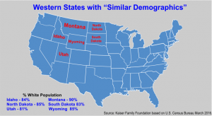 Mountain West States White Population