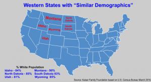 Mountain West States White Population