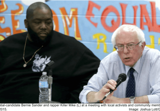 Bernie Sanders and rapper Killer Mike
