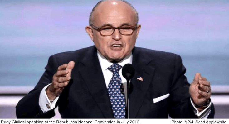 Rudy Giuliani speaking at RNC Convention