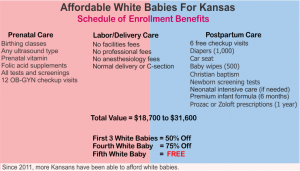 Maternity Benefits for White Babies Promotion