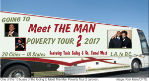 Tavis Smiley and Dr. Cornell West Poverty Tour Bus